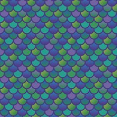 Mermaid Fish Scales In Blue Fabric 1 Yard Pre Order
