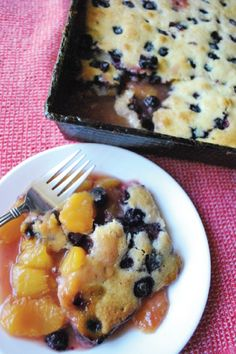 Fresh, seasonal, delicious—these three words describe perfectly this scrumptious Easy Blueberry and Peach Cobbler recipe!