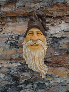 #wizard #woodspirit #woodcarving by Scott Longpre