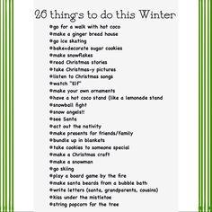 Winter Bucket List Inspiration On Pinterest