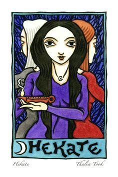 Hekate, Triple Goddess of the Moon, Earth and Underworld by ThaliaTook.deviantart.com on @DeviantArt