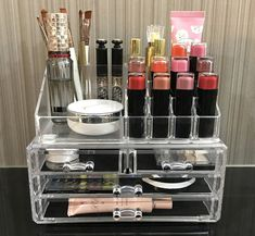 Ikee Design Acrylic Jewelry & Cosmetic Storage Display Boxes Two Pieces Set. Cosmetic Display, Cosmetic Storage, Makeup Storage, Makeup Organization, Closet Organization, Cheap Makeup, Cute Makeup, Too Faced, Body Makeup