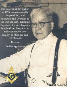 Freemason Symbol, Masonic Symbols, Emilio Aguinaldo, Famous Freemasons, Patriotic Quotes, Philippines Culture, Civil Society, Freemasonry, New World Order