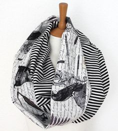 Unisex Loop/ Scarf/ infinity scarf/ poetry/ by SongbirdFashion