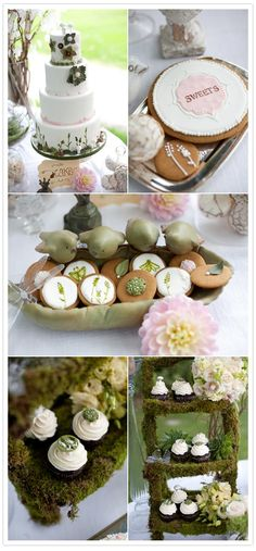 woodland theme - rustic looking cupcake stand @Mona Miklosik