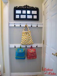 diy entry door coat hook tutorial - Coat Hooks With Storage