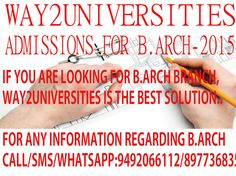 B.Arch Admissions-2015