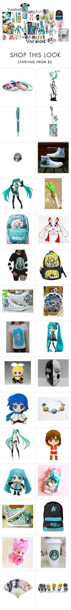 """""""Vocaloid"""" by misspinkypie ❤ liked on Polyvore featuring Converse, Sega, Shin Choi, A2 by Aerosoles and Samsung"""