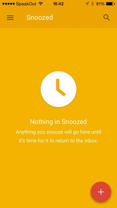 Nothing in Snoozed in in 'Inbox by @google'