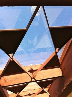 Interesting skylight design. Frank Lloyd Wright's Taliesin West, Scottsdale, AZ.