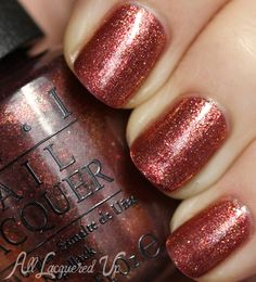 OPI Sprung is a bronze-y foil metallic. It contains a fun mix of gold, copper and red foil glitter particles to give this polish an overall bronze tone.