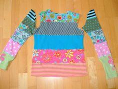 Gestern kam mir die Idee mal einige meiner Jerseyreste zu einem Shirt für Linda zu verarbeiten.  Ich habe mir Streifen in einer Breite von...