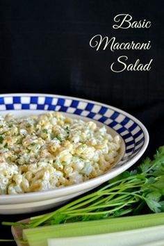 Your basic, yet delicious macaroni salad that is sure to be a hit at summer BBQ's!