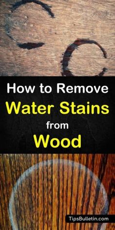 Find out how to remove water stains from wood with simple remedies. From heat via iron or hair dryer, using mayo or baking soda, to easy-to-make DIY water stain remover recipes based on vinegar and salt. The best way to get water rings off floors, tables Deep Cleaning Tips, House Cleaning Tips, Cleaning Solutions, Spring Cleaning, Cleaning Hacks, Cleaning Products, Water Stain On Wood, Removing Stain From Wood, Remove Water Stains