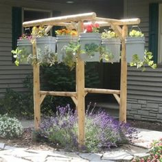 Lots of ideas of where & how to do some herbs. @Teri Smith  raveandreview-hanging-herbs-garden