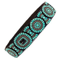 Spectacular Turquoise Set Zuni Concho Belt For Sale at 1stdibs