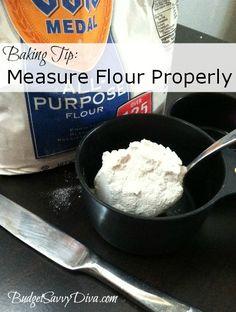 Baking Tip: Measuring Flour Properly