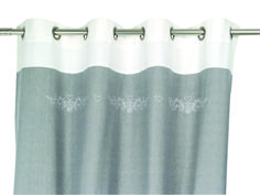 Rideau à oeillets 150x260 - SEB13114 Curtain Fabric, Curtains, Shabby Chic, Shower, Bathroom, Home Decor, Window, Rain Shower Heads, Washroom