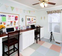 craft room makeover DIY desk