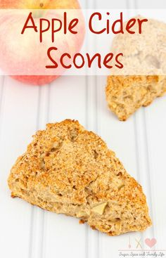 Apple Cider Scones are the perfect quick bread to enjoy with tea or coffee. - Apple Cider Scones Recipe on Sugar, Spice and Family Life