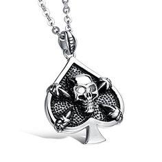 Virgin Shine Stainless Steel Heart Skull Pendant Necklace VIRGIN SHINE http://www.amazon.com/dp/B00R1PI5Q8/ref=cm_sw_r_pi_dp_YwgKub0QN92DB