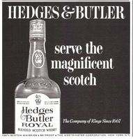 Hedges & Butler Scotch Whisky 1965 Ad Picture