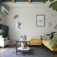 グレーで魅せる♡スーパークールな大人インテリア集 | folk Gallery Wall, Nitori, Room, Home Decor, Houses, Bedroom, Decoration Home, Room Decor, Rooms
