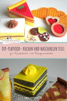 Kuchen und Naschereien für Kinderküche und Kaufmannsladen Teil 1- DIY Playfood ⋆ Mamahoch2