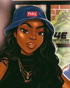 For Us By Us illustration drawing art artist digit Black Love Art, Black Girl Art, Black Is Beautiful, African Girl, African American Art, Black Girls Power, Drawings Of Black Girls, Tumbrl Girls, Black Girl Cartoon