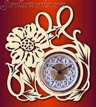 Scroll Saw Patterns :: Clocks -