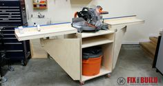 Build a Mobile Miter Saw Station for a workstation with flexibility in a small package. The miter saw stand has upgrades galore, come see how to build it!