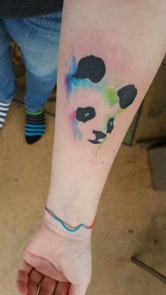 My panda face water color tattoo                              …