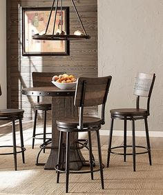 Love this Jennings Five-Piece Round Swivel Counter-Height Dining Set on #zulily! #zulilyfinds