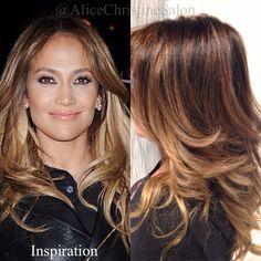 Jennifer Lopez hair color highlights