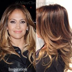 Jennifer Lopez hair color highlights