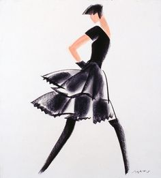 Fashion Illustration by Mats Gustafson (Swedish, 1951)  Reference Code: US.NNFIT.SC.187.1.155