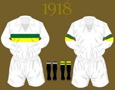 Uniforme da Seleção Brasileira de futebol de 1918 #copadomundo #Brazil2014 #copade2014 #