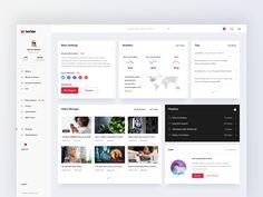 png by Yi Li Intranet Design, Web Ui Design, Flat Design, Web Dashboard, Ui Web, Dashboard Design, Hotel App, Front End Design, Youtube Design