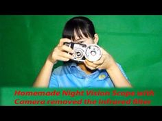Homemade Night Vision Goggle Goggles Scope Riflescope DIY Flashlight Infrared and Camera Remove IR Filter Free Energy Generator Infrared Telescope, Pvc Tube, Rifle Scope, Home Jobs, Night Vision, Flashlight, Filters, How To Remove, Homemade
