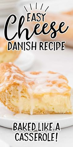 Quickly assemble this cream cheese danish recipe and enjoy a homemade version of a popular bakery item while it's still warm and flaky, fresh from the oven. Healthy Dessert Recipes, Baking Recipes, Delicious Desserts, Yummy Food, Breakfast Dishes, Breakfast Recipes, Hamburger Salad Recipe, Apple Fritter Bread, Crescent Recipes