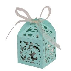 Beautiful Laser Cut Magnolia #Wedding Favor Box -- See more Laser Cut Wedding Ideas at www.3d-memoirs.com