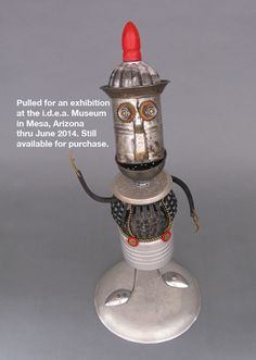 Found Object ROBOT SCULPTURE  Calvin by CastOfCharacters23 on Etsy, $165.00