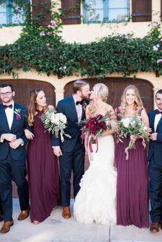 20 Stunning Marsala Bridesmaid Dress Ideas For Fall Weddings: #7. Gorgeous marsala maxi bridesmaid dresses
