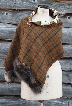 Harriet Hoot Bespoke Harris Tweed & Fur Wrap