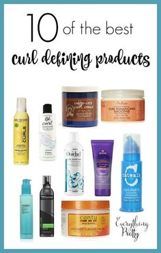 10 of the best curl defining products for beautiful curls without crunchy hair or frizz. Curly Hair Tips, Curly Hair Care, Curly Hair Styles, Natural Hair Styles, Frizzy Curly Hair Products, Natural Hair Products, Shampoo For Curly Hair, Curly Hair Routine, Rides Front