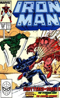 Iron Man 229 - Marvel - Apr - Approved By The Comics Code Authority - Sword - Fight Iron Man Comic Books, Marvel Comic Books, Marvel Characters, Comic Books Art, Comic Art, Book Art, Hulk Comic, Marvel Villains, Dr Octopus