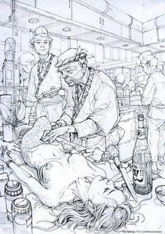Kim Jung Gi drawing.