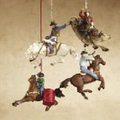 Rodeo Ornaments For Your Christmas Tree Or Rearview Mirror
