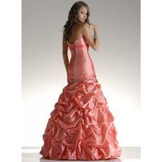 Noble Taffeta A-line Strapless Spring Sleeveless Ruching Dropped Watermelon Wedding Dresses