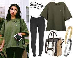 Madison Beer: Olive Green Sweatshirt